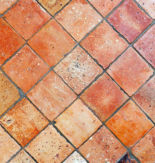 Antike terracottaplatten 16 16 cm rot gelb orange fliesen pinterest orange gelb und - Orange fliesen ...