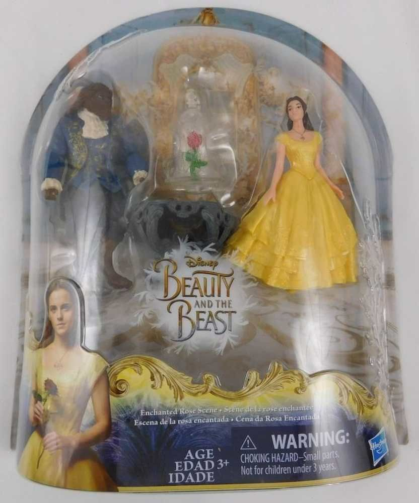 Disney Beauty and the Beast ENCHANTED ROSE SCENE PLAYSET Belle Doll and Beast