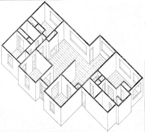 Oblique Oblique Drawing Architecture Drawing Axonometric Drawing