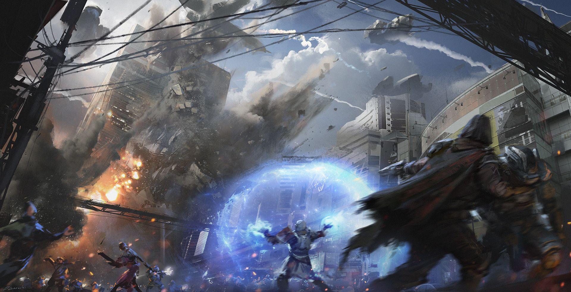 ArtStation - Destiny 2 Cinematic #1 falling tower, Darek