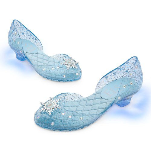 Disney Store Frozen Princess Elsa Light-Up Shoes/Costume Slippers ...