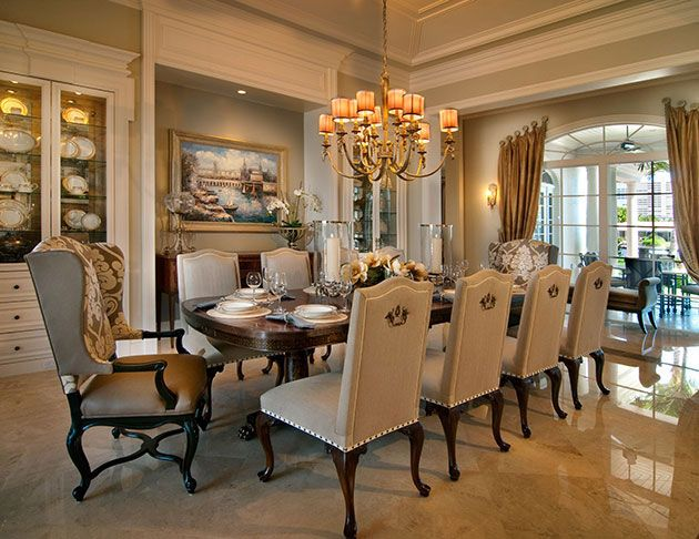 luxurious decor formal dining room designs ideas   Residential - Projects - P Interiors   Luxury dining room ...