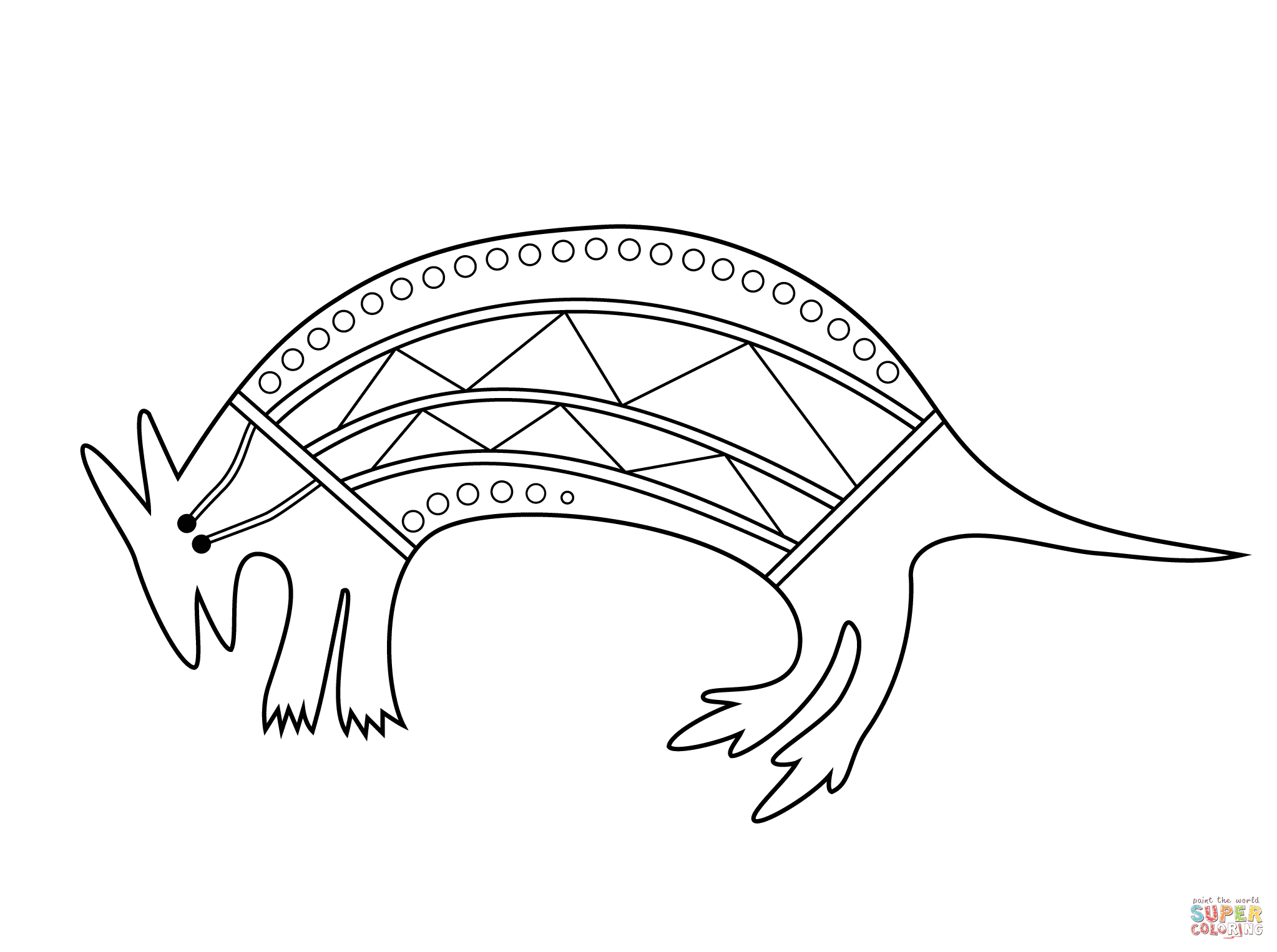 Aboriginal Animal Colouring Pages To Print : Moroccan spicy olive orange salad recipe coloring