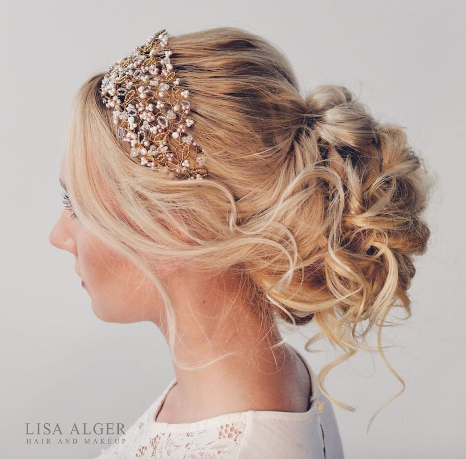 see website for online wedding hair training * messy boho bun