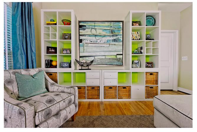 interesting ikea home office living room ideas | 4 Fun IKEA Kallax Ideas | House improvements | Kallax ...