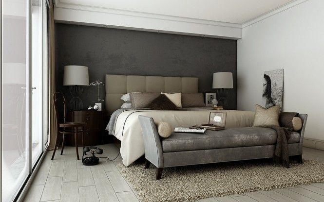 Grey Brown Taupe Sophisticated Bedroom Sophisticated Bedroom