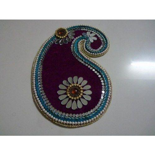 Rangoli Mango Shaped Home Decoration Diwali Decor Unique Single Pieces