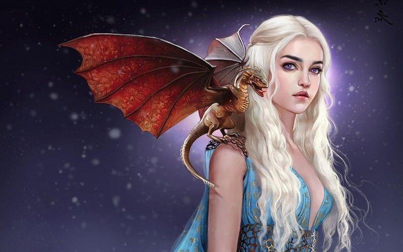 Game of Thrones Daenerys Emilia Clarke Silk poster 24 X 14 inch wallpaper