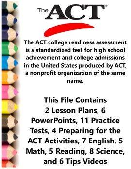 ACT Prep College Entrance Exam Teacher Supplemental