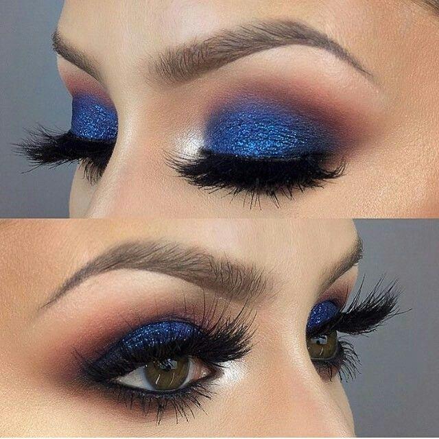 Maquillaje para combinar con vestido azul rey