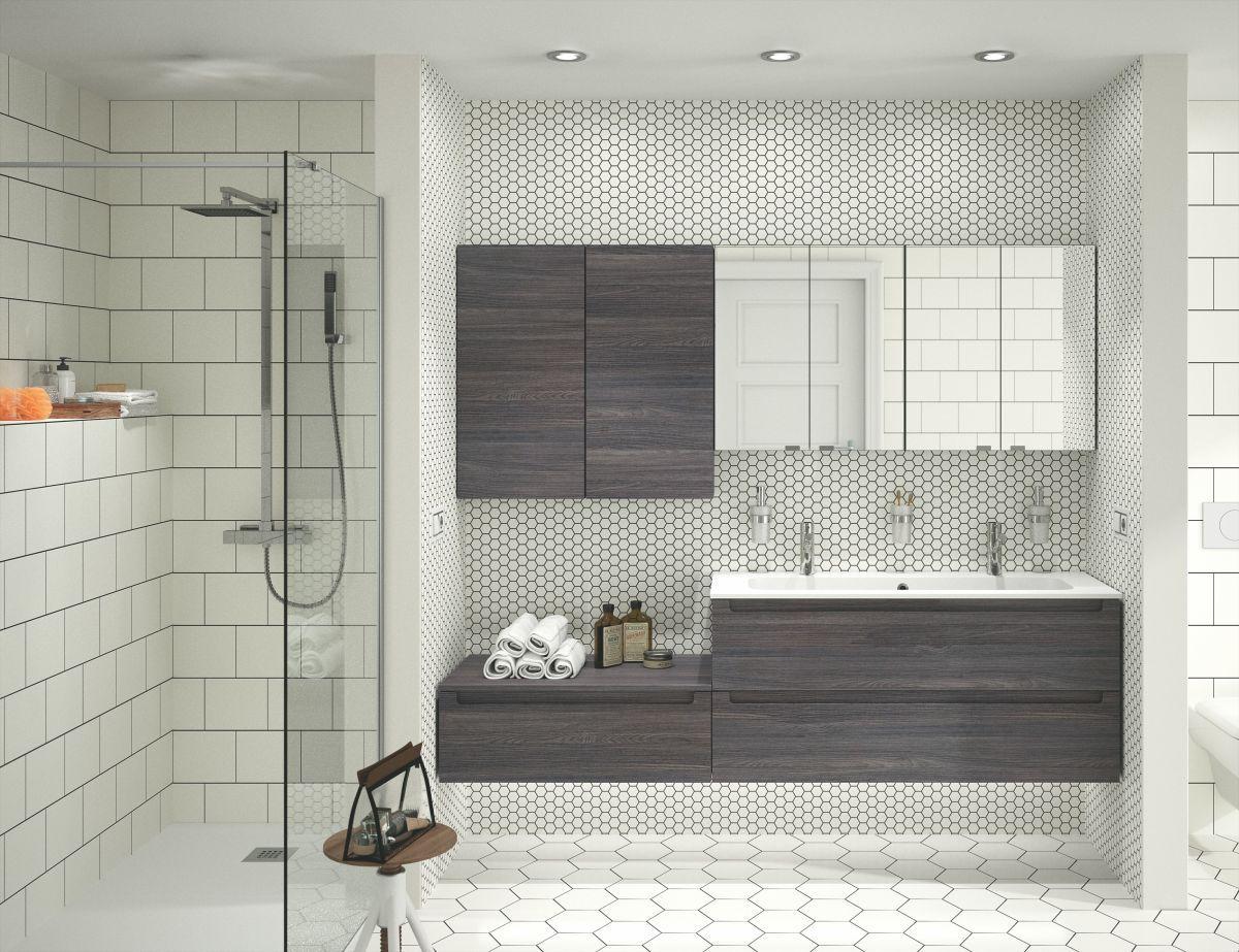 Badezimmer Holzmöbel ~ Badezimmer anthrazit woody  holz jetzt bestellen unter