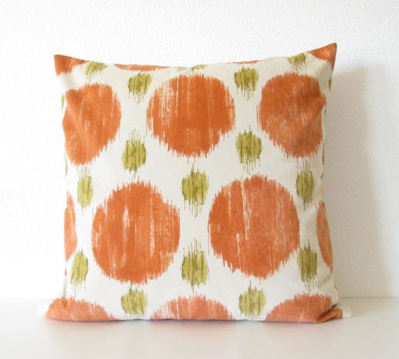 Decorative pillow cover Throw pillow Ikat pillow 20x20