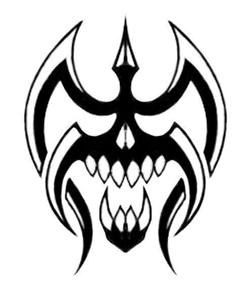 Tribal Skull Tribal Skull Tribal Drawings Skull Stencil
