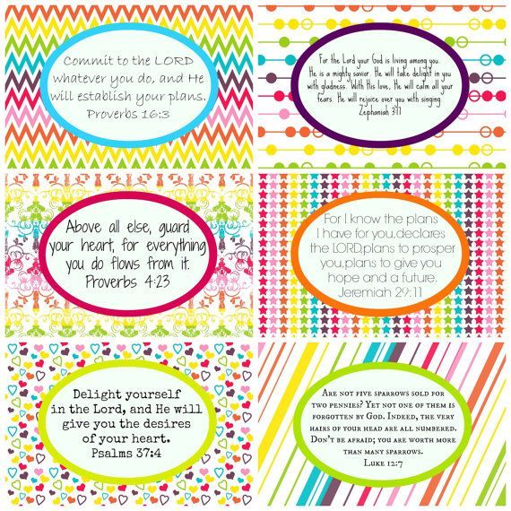 Printable Rainbow Scripture Cards For Young Girls