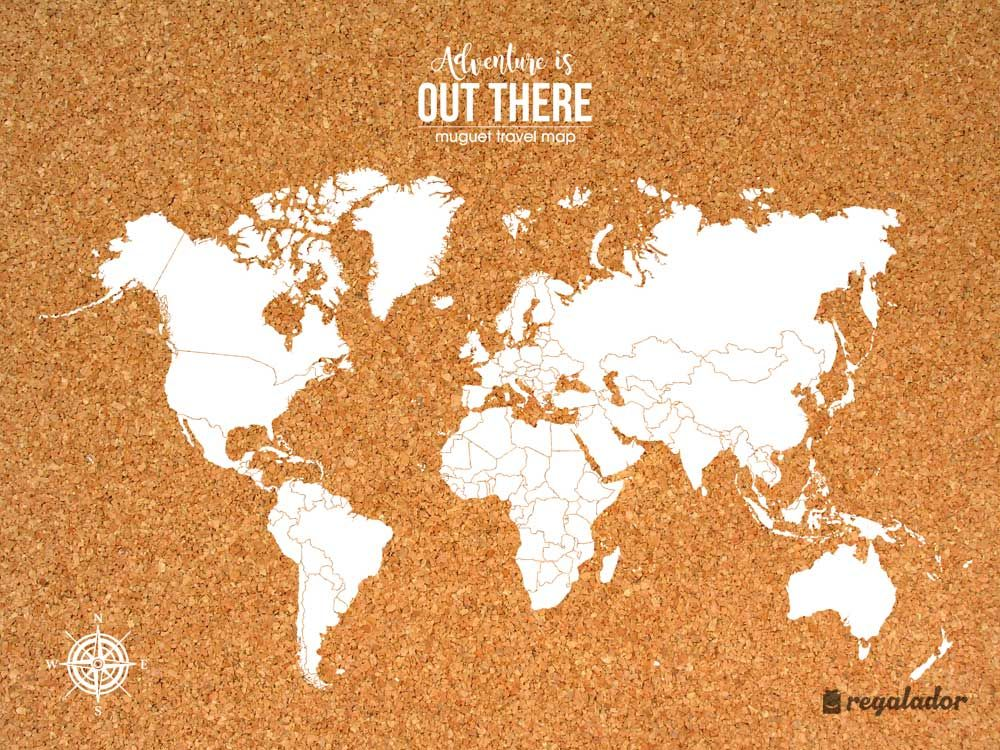 Corcho mapamundi para tu pared | Mapamundi, Corchos y Viajeros