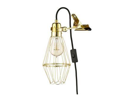 Clipslampe - guld