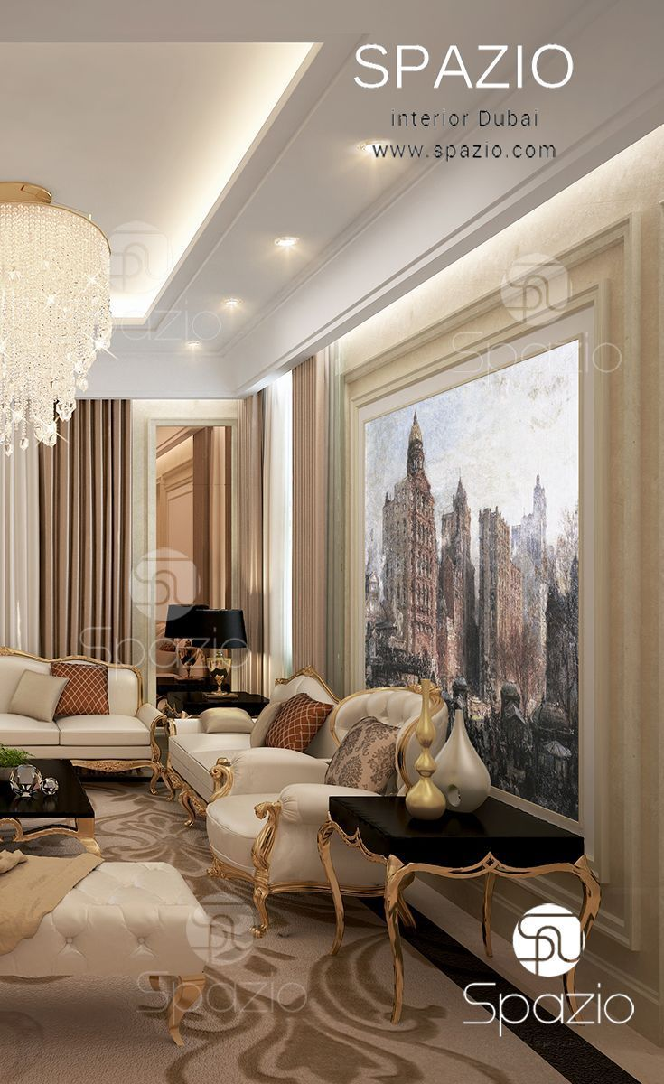Majlis interior design in dubai luxurious residance for International seating and decor