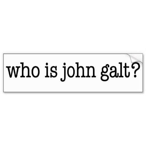 Who Is John Galt Bumper Sticker Zazzle Com In 2019 Who