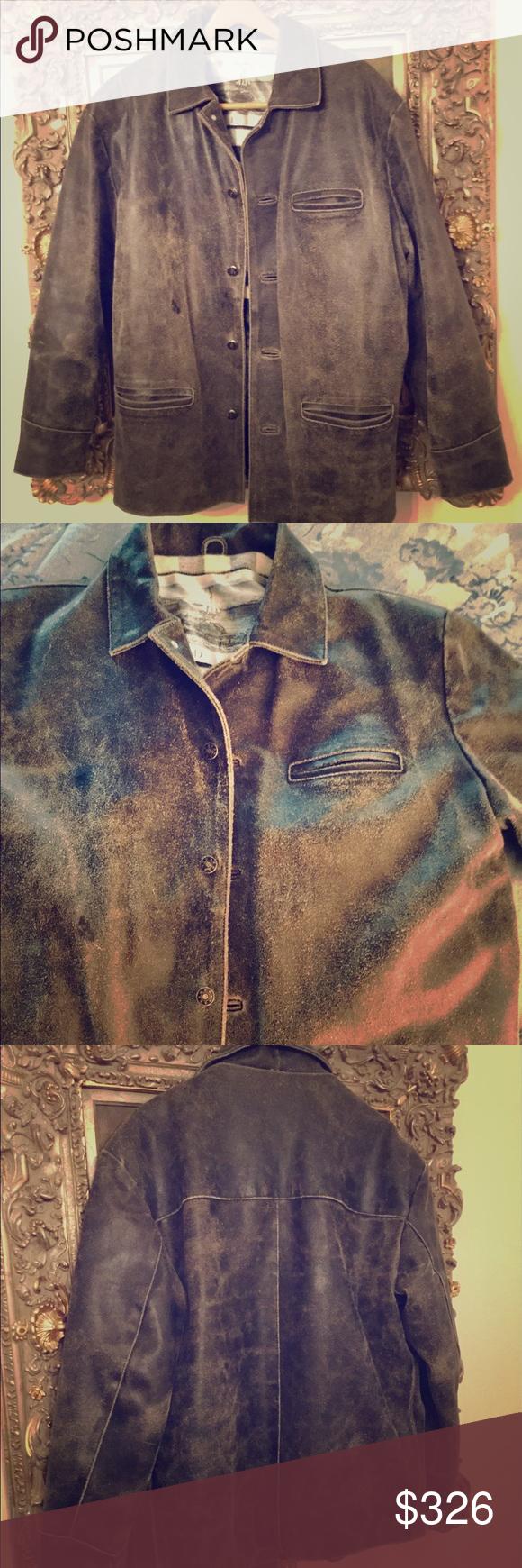 Vintage Very Rare Men S Hudson Leather Jacket This Is A Very Rare Men S Vintage Hudson Distres Distressed Leather Jacket Vintage Leather Jacket Leather Jacket [ 1740 x 580 Pixel ]