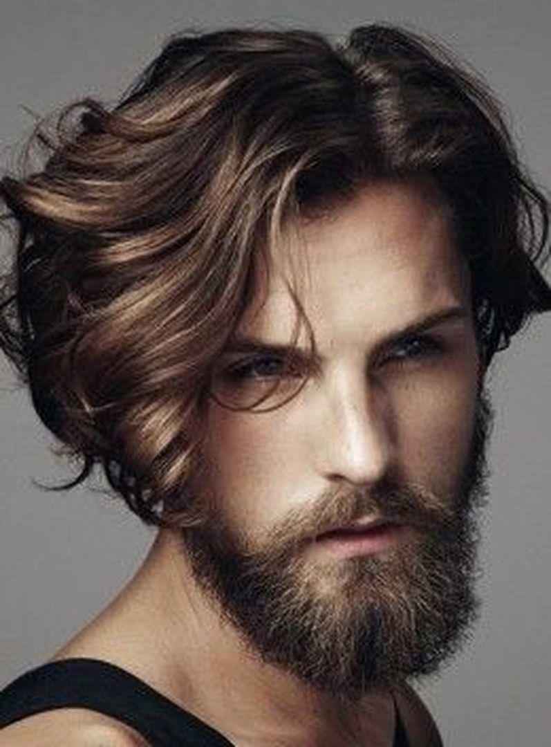 Front Wavy Hair Men Novocom Top