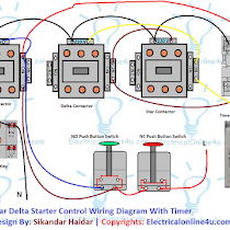 Star Delta Starter Wiring Diagram 3 Phase With Timer Electrical Online 4u Circuit Diagram Electrical Circuit Diagram Electricity