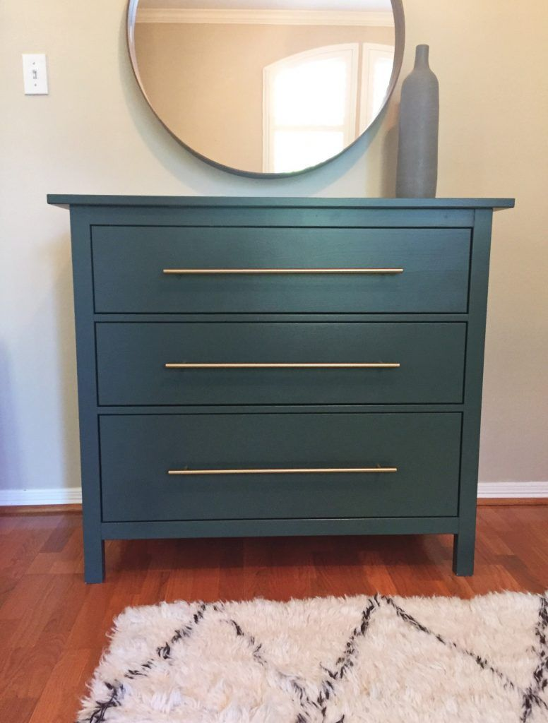 Superbe IKEA Hack   Forest Green Hemnes Dresser With Brass Pulls   Plum Street  Prints