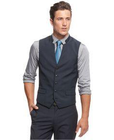 165a03f713 mens wedding black vest white shirt blue tie - Google Search   We're ...