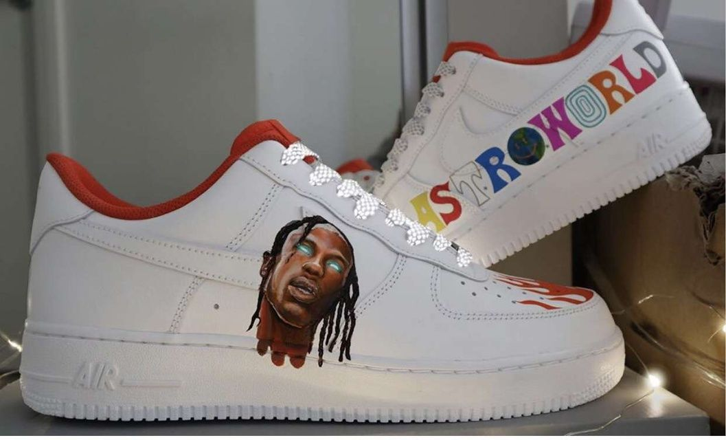 Astroworld Travis Scott In 2020 Custom Nike Shoes Air Force One