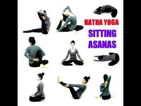 sitting  prone and supine hatha yoga postures sanskrit
