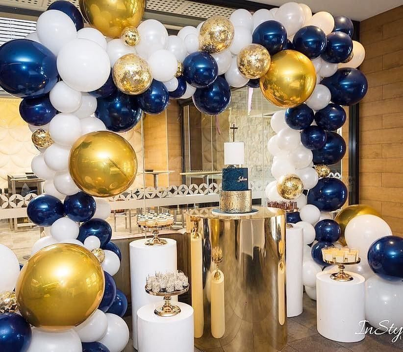Congratulations To Joshua On His First Holy Communion Celebrating With Our Fave Colour Navy Balloons Party Balloons Birthday Party Decorations Birthday Parties