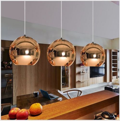 Glass Mirror Ball Ceiling Pendant Light Modern Tom Dixon Lamp Chandelier 7 Sizes Plafonniers De Chambre Suspension Design Eclairage De Pendentif De Cuisine