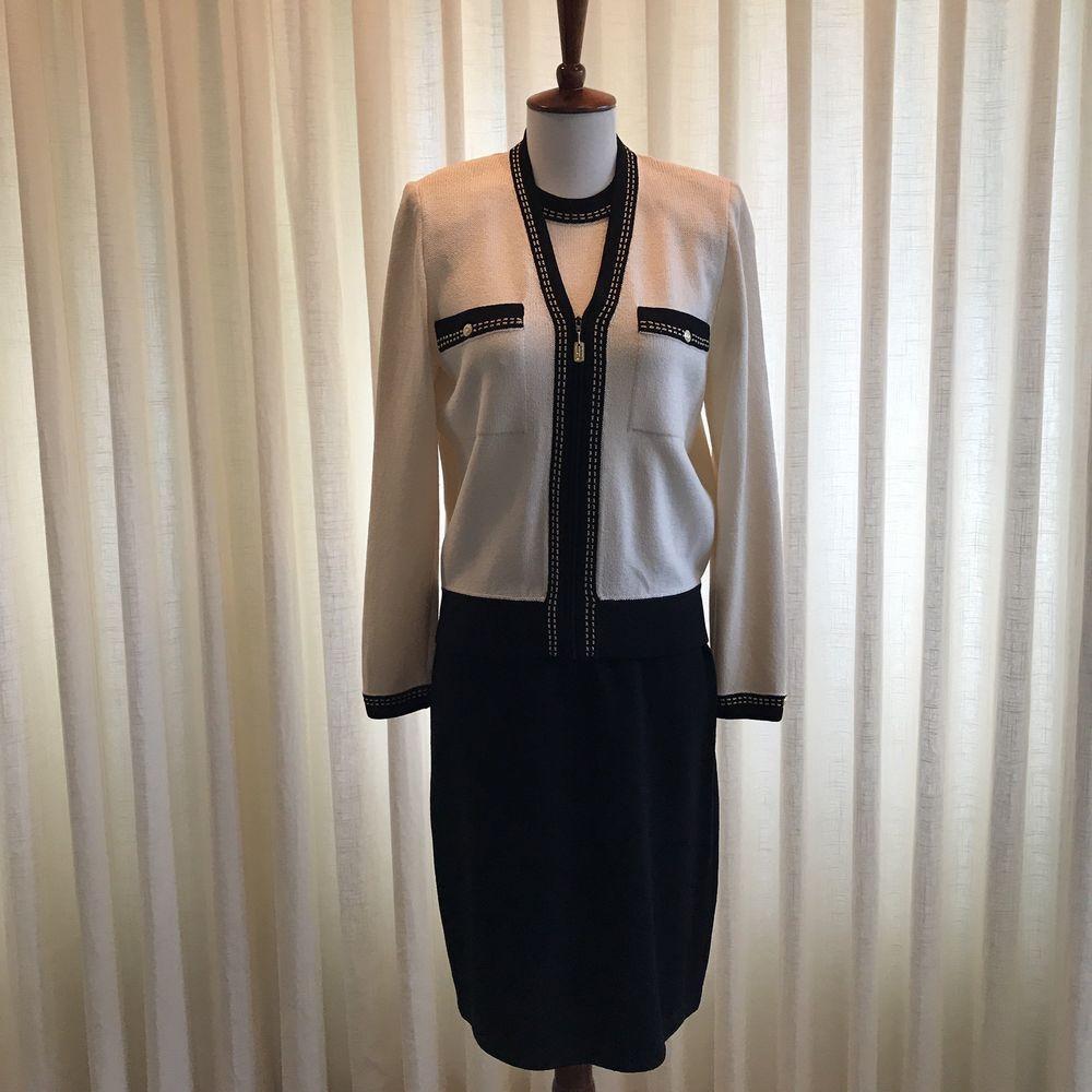 ec2a4da66b42 St John Collection by Marie Gray Sheath Dress Jacket Knit 2 Piece Sz P&4  Vintage #StJohn #SheathDress #AnyOccasion
