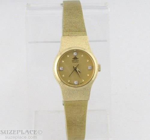 Vintage Seiko Ladies Watch Diamonds ON Dial NEW Condition SuzePlace.com