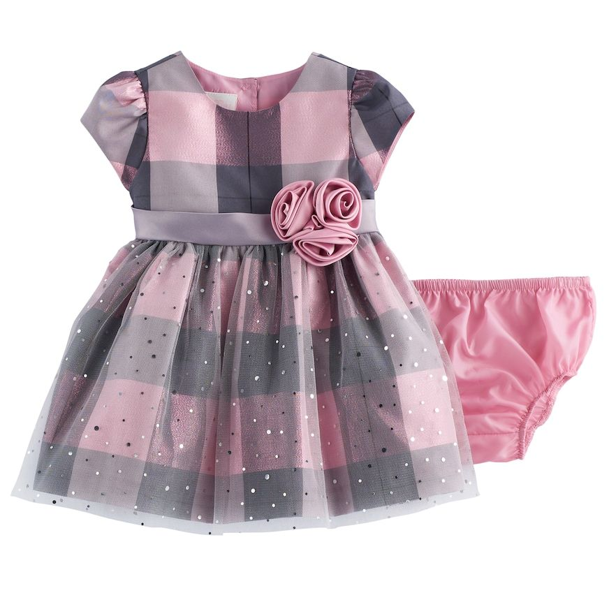 fc00c24fadcb Baby Girl Bonnie Jean Plaid Sparkle Dress | Products | Bonnie jean ...