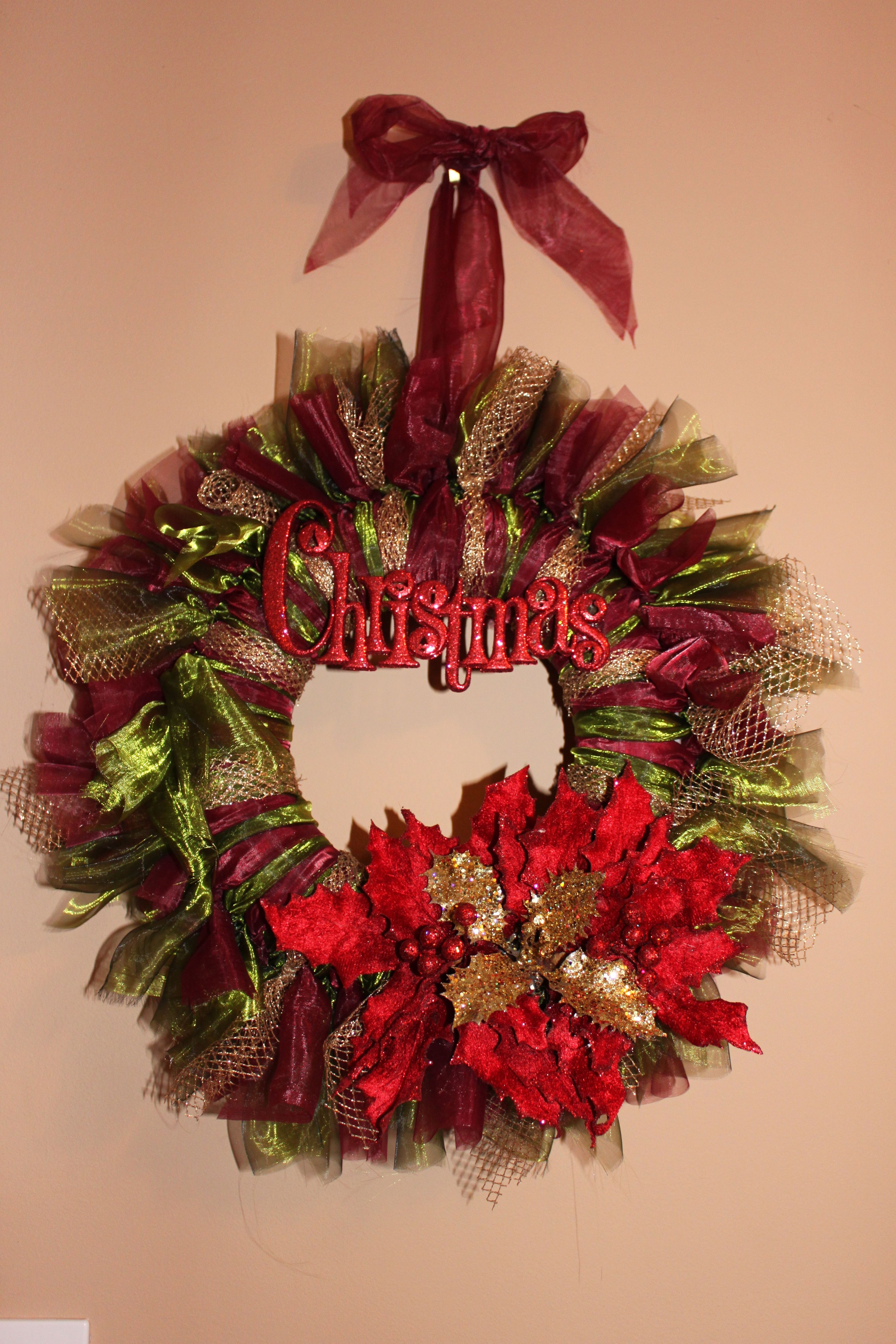 Christmas origami wreath - Christmas Wreath Tulle And Voile Crafts Pinterest Wreaths Xmas Decorations And Craft