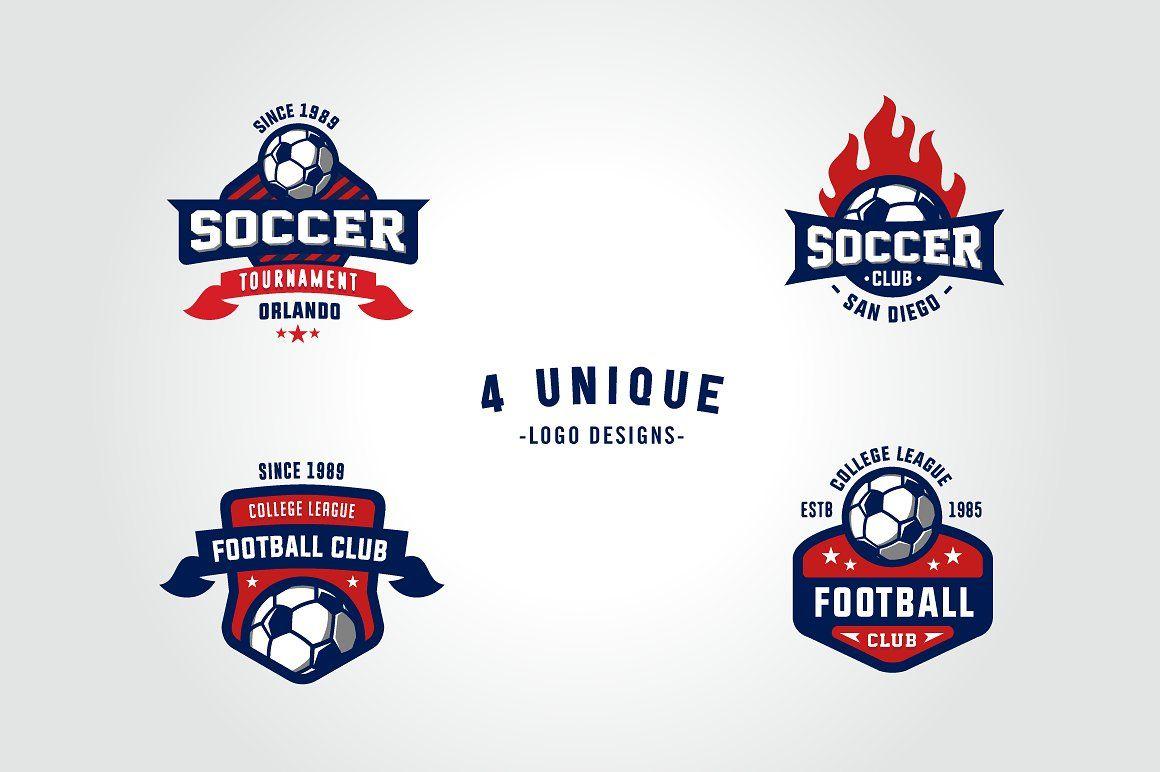 Sports Logos Soccer Football Edition Sports Logo Unique Logo Design Minimal Logo Design