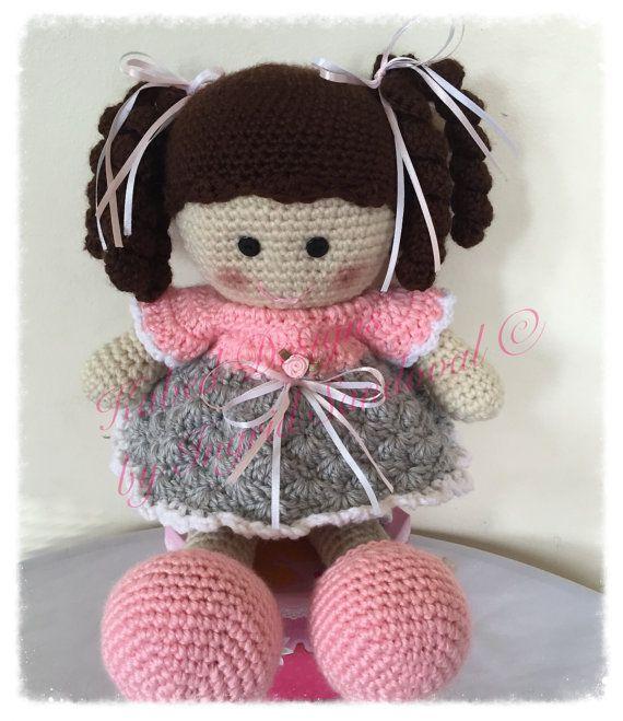Rosy the doll pattern, crochet doll pattern, crochet pattern | Los ...