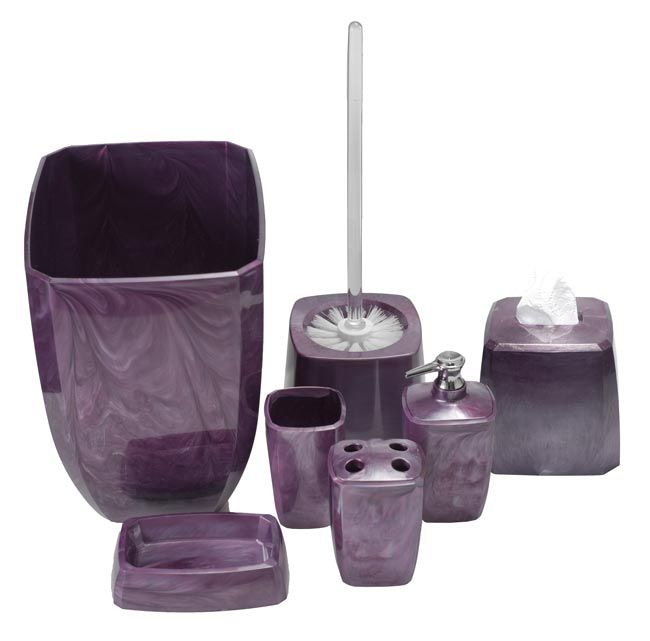 purple swirl bathroom accessories
