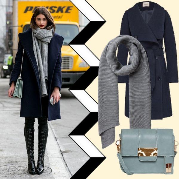 💙Der dunkelblaue Wollmantel💙 - ein Klassiker im Kleiderschrank! Mit grauen Accessoires kommt die Farbe wunderbar zur Geltung. Produkte zum Nachshoppen ▶ styledit.de ◀