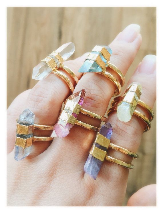 Hokupa'a ring gold quartz cuff ring gold ring by kealohajewelry