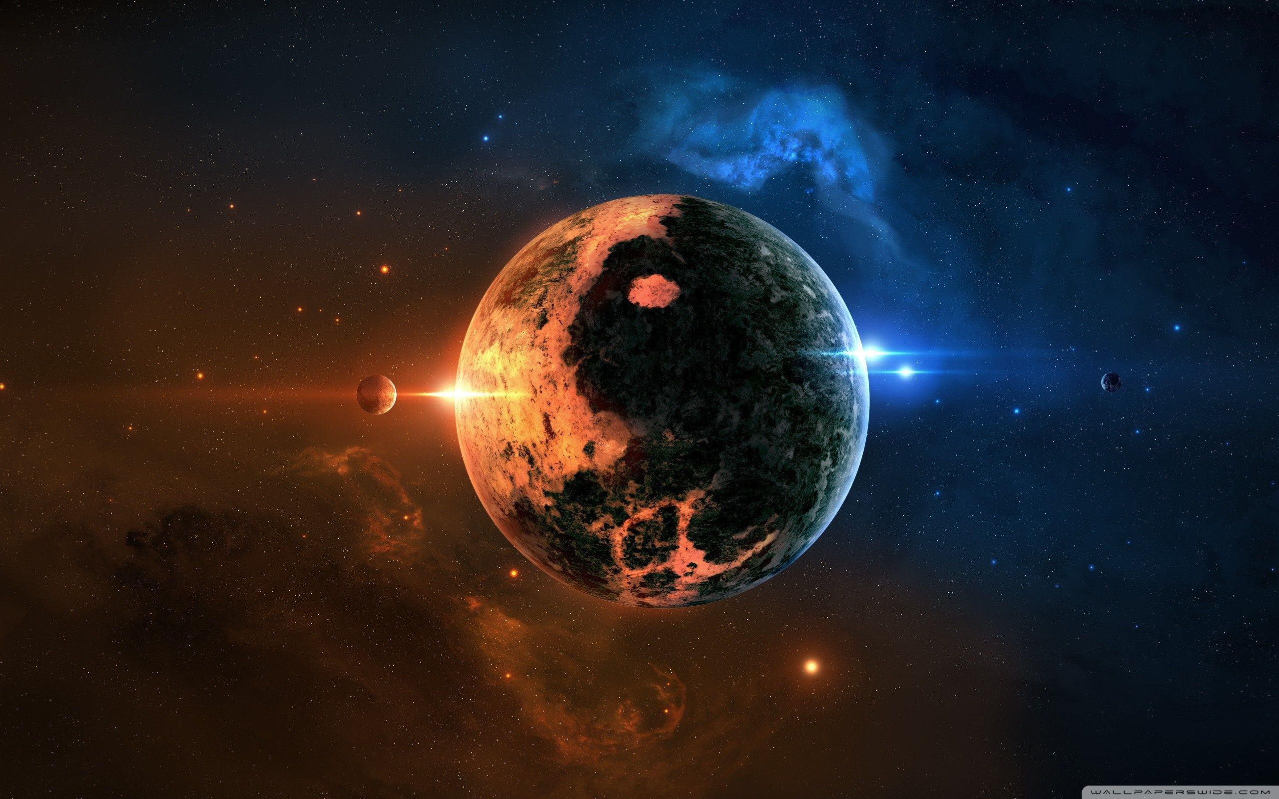 Jing Jang Yin Yang Planet Hd High Definition Fullscreen Wallpaper