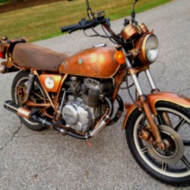 Marci's cool steampunked motorcycle ! Amazing | Steampunk ...