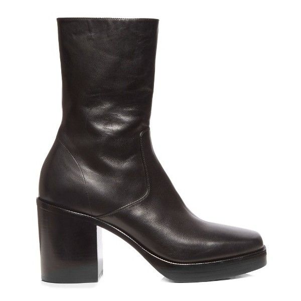 MALLY Soft Leather Boots Black OW28949