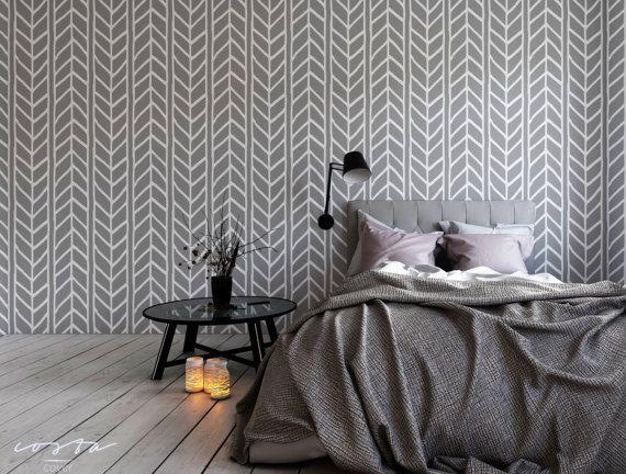 Removable Wallpaper Herringbone Wallpaper Geometric Peel And Stick Self Adhesive Grey Removable Wallpaper For Renters Grey Vinyl Wallpaper Removable Wallpaper