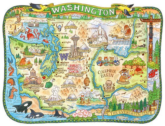 Washington State Map 16\