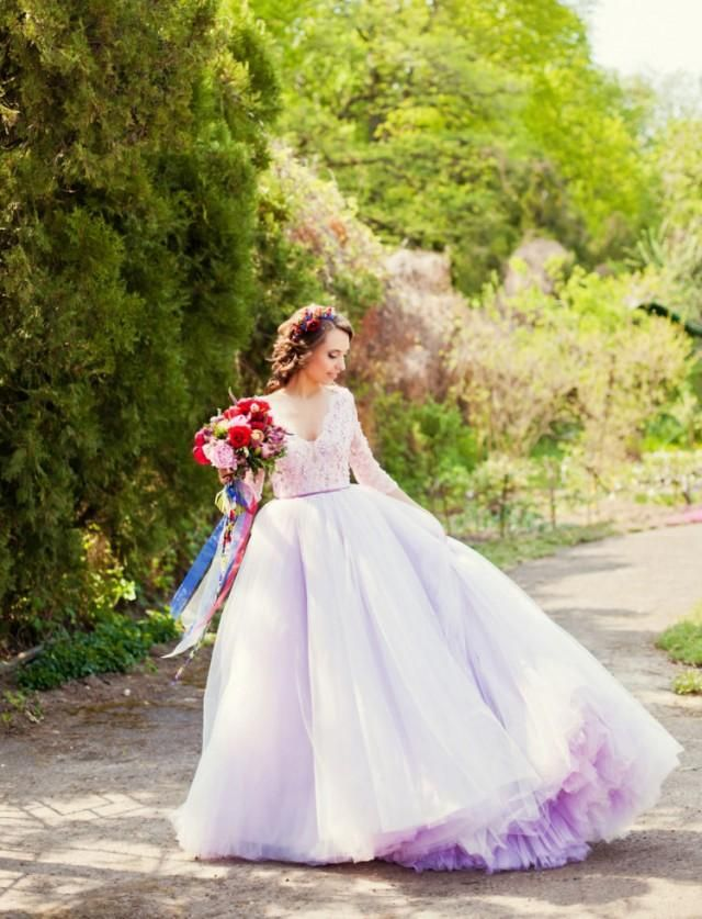 Pin By Veronica Lewis On Wedding To Be Lavender Wedding Dress