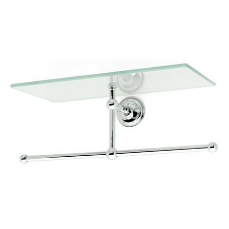 London Terrace 12 Shelf With Towel Bar 2636t Ginger Towel Bar Polished Chrome Glass Shelves