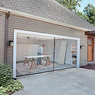 Someone Was Finally Thinking Yea 2 Car Garage Door Screen Kit With Images Garage Screen Door Garage Doors Contemporary Garage Doors