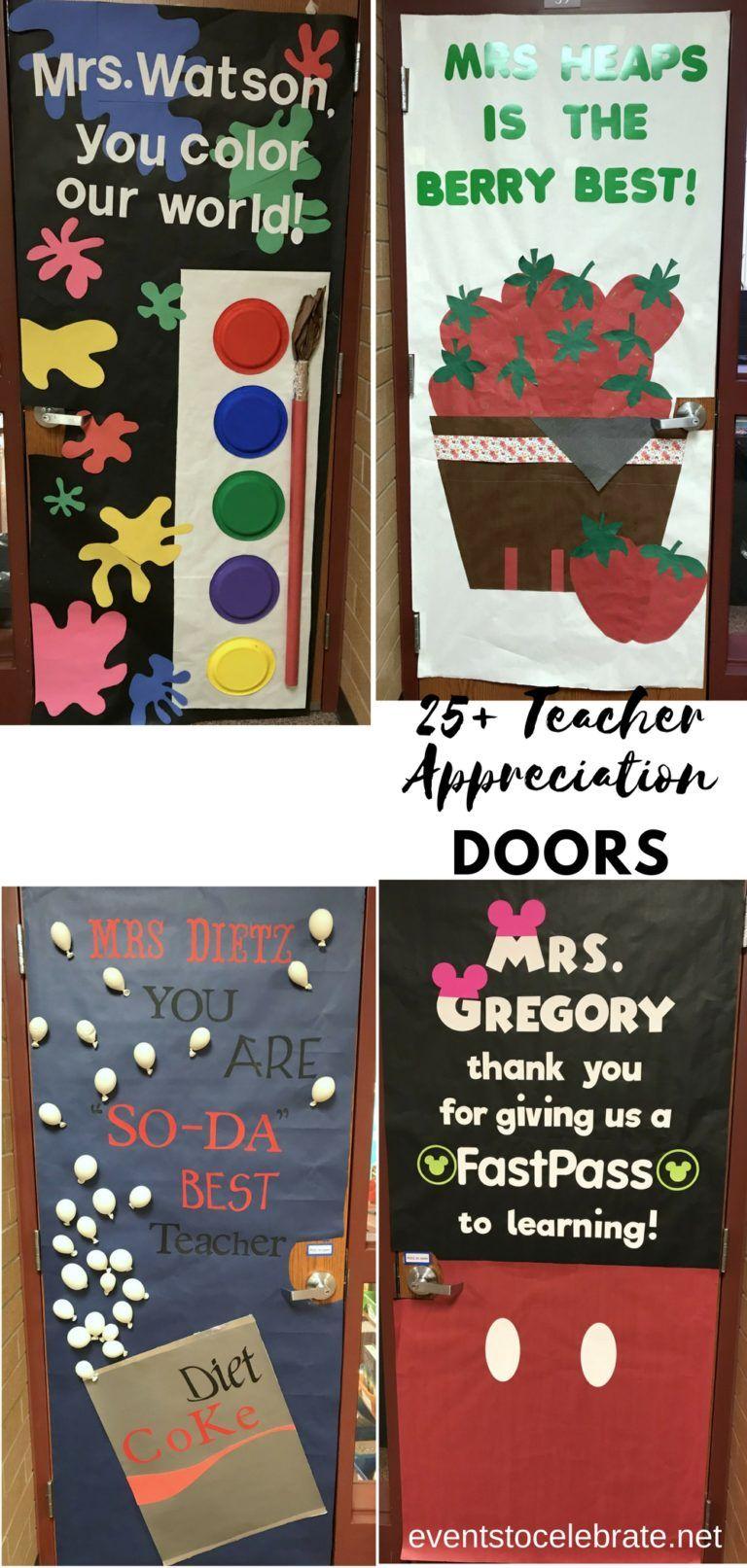 Teacher Appreciation Door Decorating Ideas Teacher Appreciation