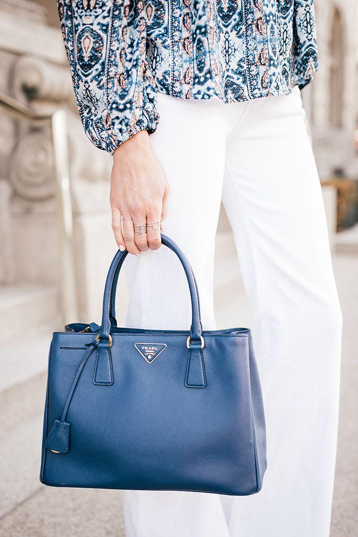 1260a3d5ec Trendlee blue Prada bag Prada Tote